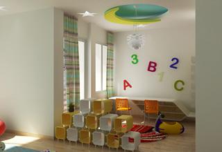 Trần thạch cao cho phòng trẻ em